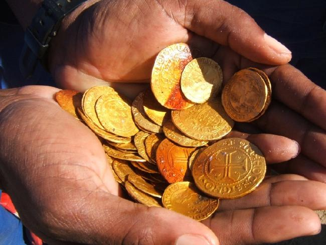 Gold Coins Horde Discovered in Namibia Shipwreck