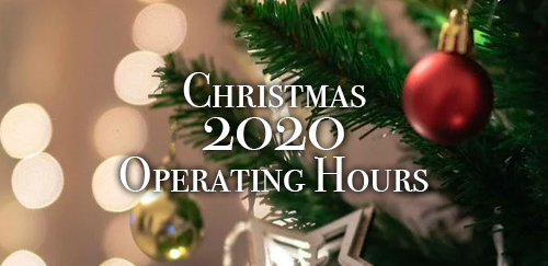 Christmas 2020 Operating Hours