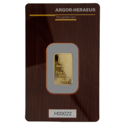 Argor-Heraeus 5 Gram Gold Bar