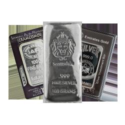 100g Silver Bars