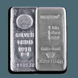 1 Kilo Silver Bars