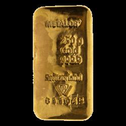 250 Gram Gold Bars
