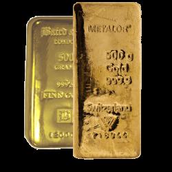 500 Gram Gold Bars