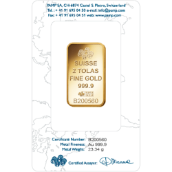 2 Tola Gold Bars