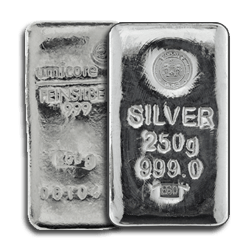 250g Silver Bars