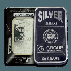 50g Silver Bars