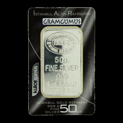 Istanbul 50g Gram Silver Bar 999 0