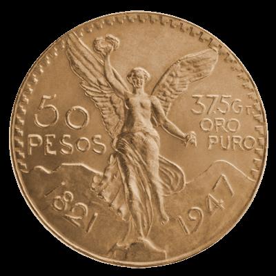 Mexican Gold 50 Pesos Coin 900 0