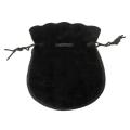 Large Black Velvet Coin Pouch