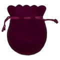 Small Red Velvet Coin Pouch