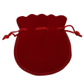 Large Red Velvet Coin Pouch