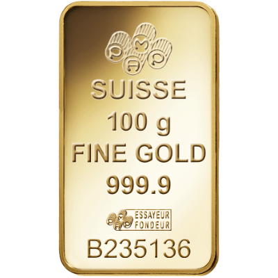 Pamp 100 Gram Certicard Rosa Gold Bar 100g Gold Bar Uk