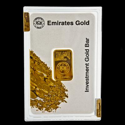 Emirates Gold 10 Gram Boxed Gold Bar 10g Gold Bar