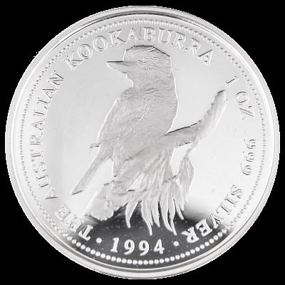 1994 Kangaroo Silver $1 Coin Australia Queen Elizabeth One Ounce 1oz