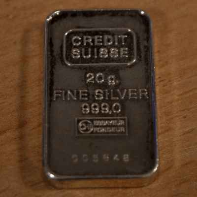 20 Gram Silver Bar Credit Suisse