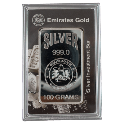 Emirates 100 Gram Rose Silver Bar 999 0