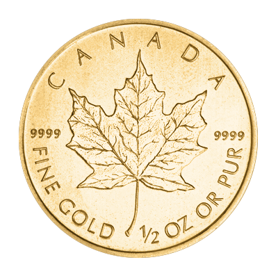 1/2oz Gold Maple Mixed Years (Canada)