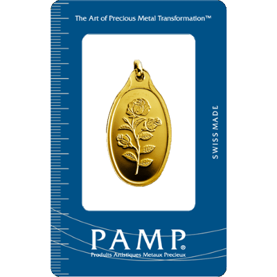 Pamp 10 Gram Rosa Oval Gold Investment Bar 10g Oval Gold