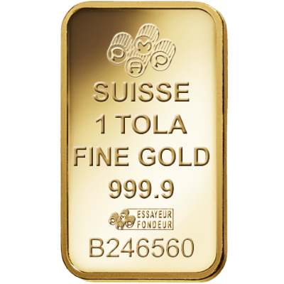 Pamp 1 Tola Fortuna Gold Bar Veriscan