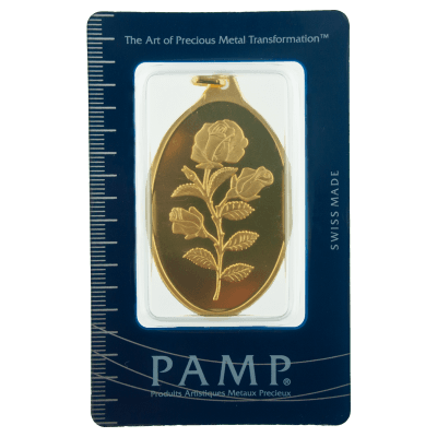 Pamp 1 Ounce Rosa Oval Gold Investment Bar 1oz Gold Bar