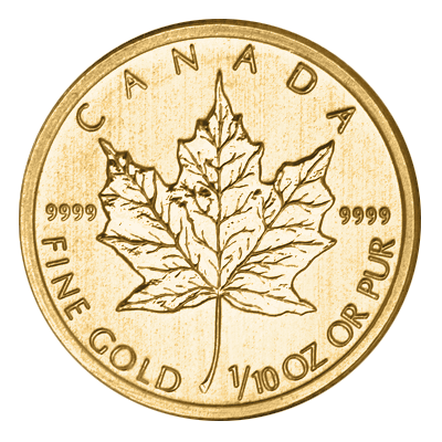1/10oz Gold Maple Mixed Years (Canada)