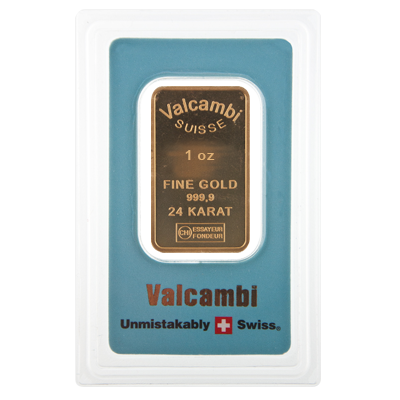 Valcambi Blue 1 Ounce Gold Bar 1oz Gold Bar Ukbullion