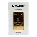 Metalor 100 gram Minted Gold Bar 999.9