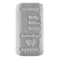 Metalor 100 gram Cast Silver Bar 999.0