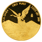 1/4oz Gold Libertad | Mixed Years | Mexican Mint