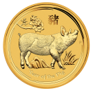 2019 1oz Gold Lunar Pig - Perth Mint (Australia)