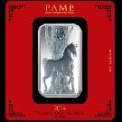 100 Gram Silver Bar PAMP Lunar Horse Certicard