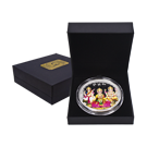 100 Gram Silver Round MMTC-PAMP Tri-God Coloured in Presentation Box