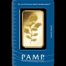 100 Gram Gold Bar PAMP Rosa Certicard