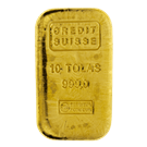 10 Tola Cast Gold Bar Credit Suisse