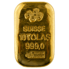 10 Tola Cast Gold Bar PAMP