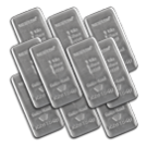 10 x 1 Kilogram Silver Cast Bar Bundle Metalor