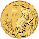 2020 1/4oz Year of the Mouse Gold Coin - Lunar Series III - The Perth Mint (Australia)