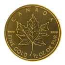 Canadian Half Ounce Gold Maple Leaf Coin