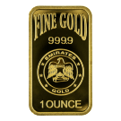 1oz Gold Bar Blister Pack Emirates Gold