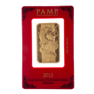 1oz Gold Bar PAMP Lunar Dragon (PO)