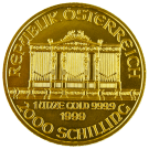 Austrian 1 Ounce Gold 1999 Philharmonic Coin 999.9
