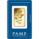 1oz Gold Bar PAMP Rosa Certicard