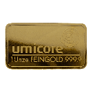 Umicore 1 Ounce Gold Bar 999.9