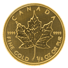 Canadian 1/4 Ounce Gold Maple Leaf Coin