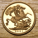 1998 - 2015 Gold Full Sovereign (Elizabeth II, Old Head) (PO)