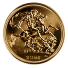 1998 - 2015 Gold Full Sovereign  (Elizabeth II, Old Head)