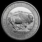 Canadian 1.25oz Silver Buffalo Coin 999.0