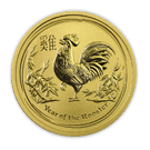 2017 1oz Gold Lunar Rooster - Perth Mint (Australia)
