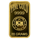 20 Gram Gold Bar Blister Pack Emirates Gold