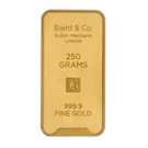 250 Gram Gold Bar Baird & Co